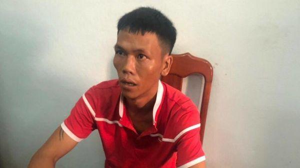Đối tượng Nguyễn Qúy tại cơ quan công an. Ảnh: báo Giao Thông.