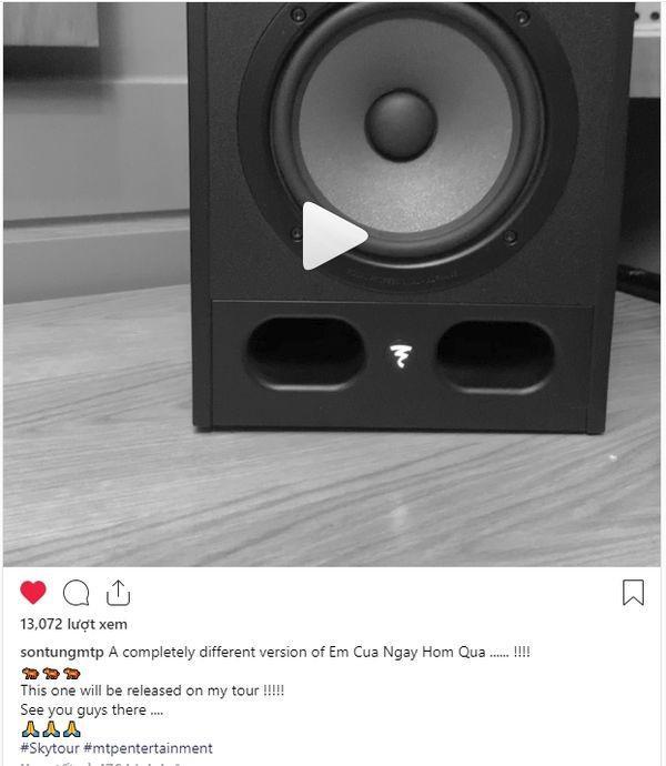 Đoạn clip và dòng trạng thái hé lộ phiên bản mới ca khúc Em của ngày hôm qua dành riêng cho dự án Sky Tour 2019.
