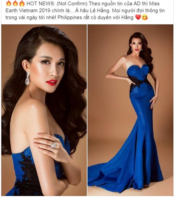 Cư dân mạng cho rằng đại diện Việt Nam tại Miss Earth năm nay là á hậu Lệ Hằng.