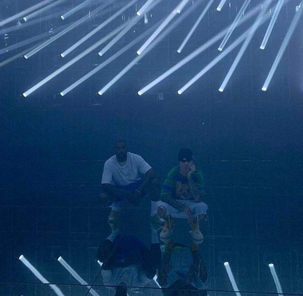 Bức ảnh làm dấy lên tin đồn về màn hợp tác của Kayne West và Justin Bieber.