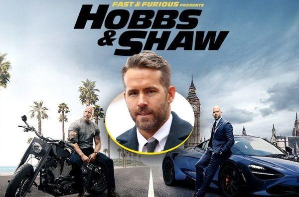 Ryan Reynold chính là khách mời đặc biệt trong bộ phim bom tấn Hobbs and Shaw.