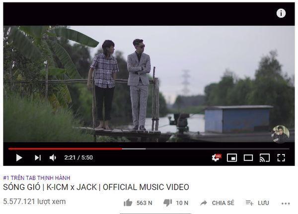 Sau 16 tiếng 30 phút, ca khúc đã xuất sắc vươn lên vị trí top 1 trending Youtube.