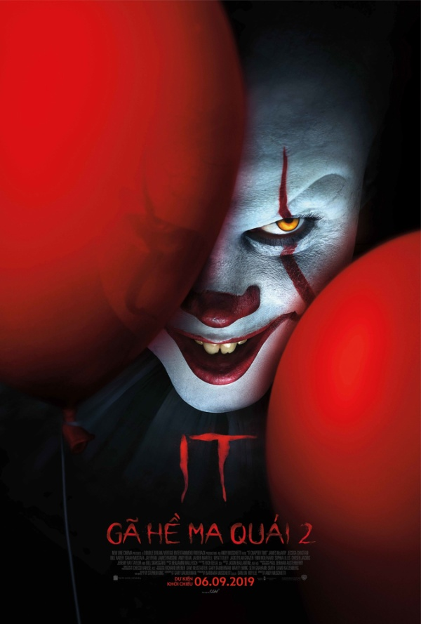 Pennywise trở lại đối đầu Losers' Club trong IT: Chapter Two.
