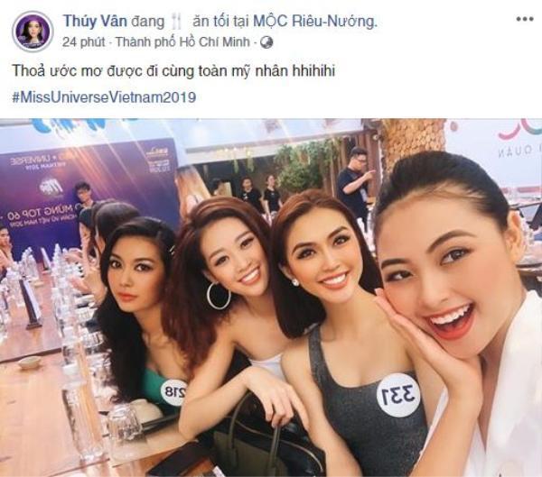 Hình ảnh được Thúy Vân chia sẻ trên trang cá nhân khiến fans thích thú khi cả Thúy Vân, Đào Hà, Tường Linh, Khánh Vân cùng nhau hội tụ ở một góc hình.