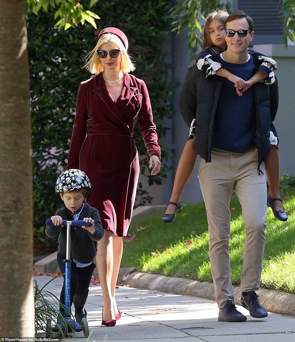 Nhìn gia đình Ivanka Trump đẹp như một bức tranh khi cả nhà ai cũng mặc đẹp như chụp hình tạp chí