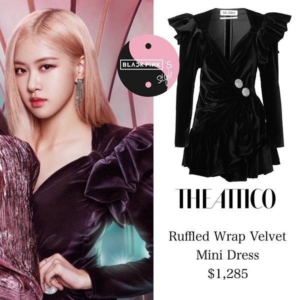 Kiểu váy của Rosé có giá tầm 30 triệu đồng, đắt nhất trong nhóm