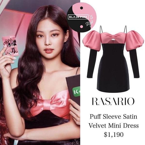 """""""Thánh sống Chanel"""" trong kiểu váy ôm màu hồng/đen hai dây quyến rũ có giá 28 triệu đồng đến từ Rasario"""