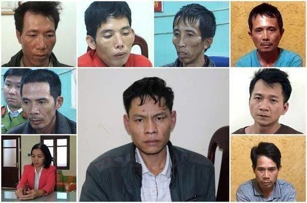 9 bị cáo trong vụ án.