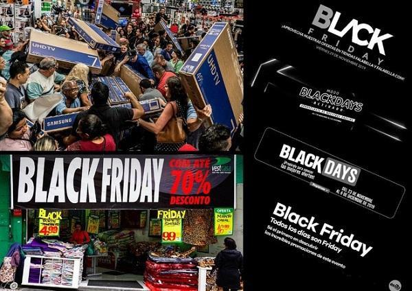 Tại Colombia, ngày thứ sáu đen tối kéo dài từ ngày 7/11 đến hết ngày 3/12. Ở Brazil, các nhà bán lẻ thậm chí còn quảng bá Black November và Black Week đến với các khách hàng một cách triệt để trong tháng 11