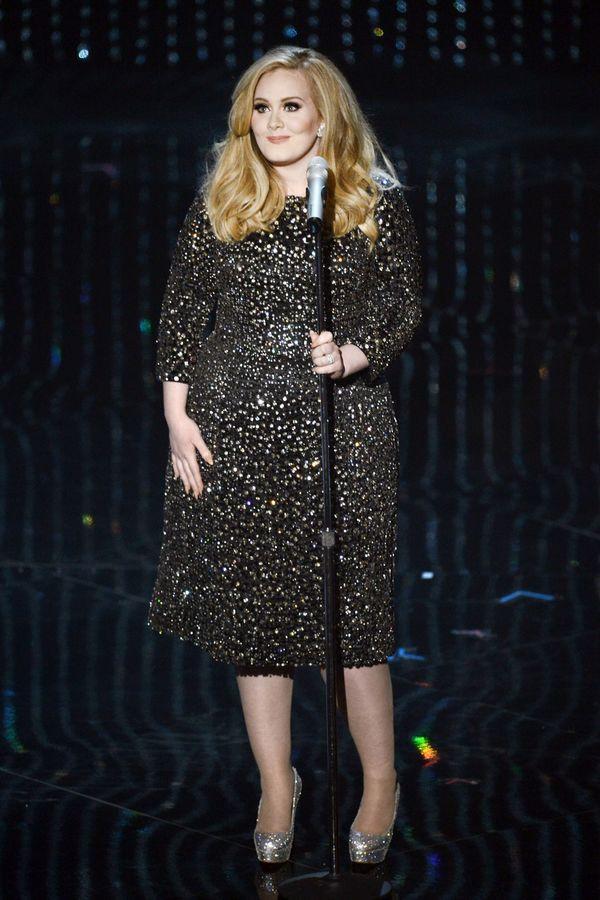 Adele với thân hình đẫy đà của trước đây