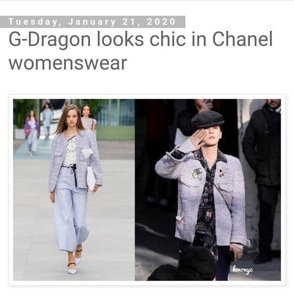 """G-Dragon trông vô cùng """"chic"""" trong set đồ dành cho nữ giới"""