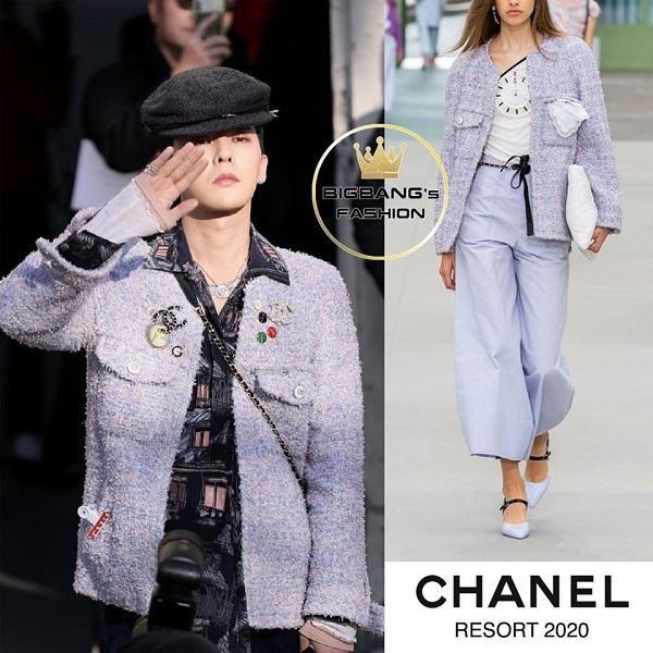 """Kiểu áo khoác dành cho phái nữ được G-Dragon mặc lên trông rất """"chất"""" theo đúng cách riêng"""