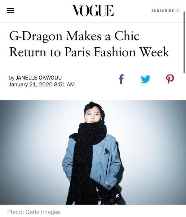 """Tạp chí Vogue đã viết hẳn một bài riêng nói về sự trở lại của """"ông hoàng thời trang của Châu Á"""" tại Paris Fashion Week"""
