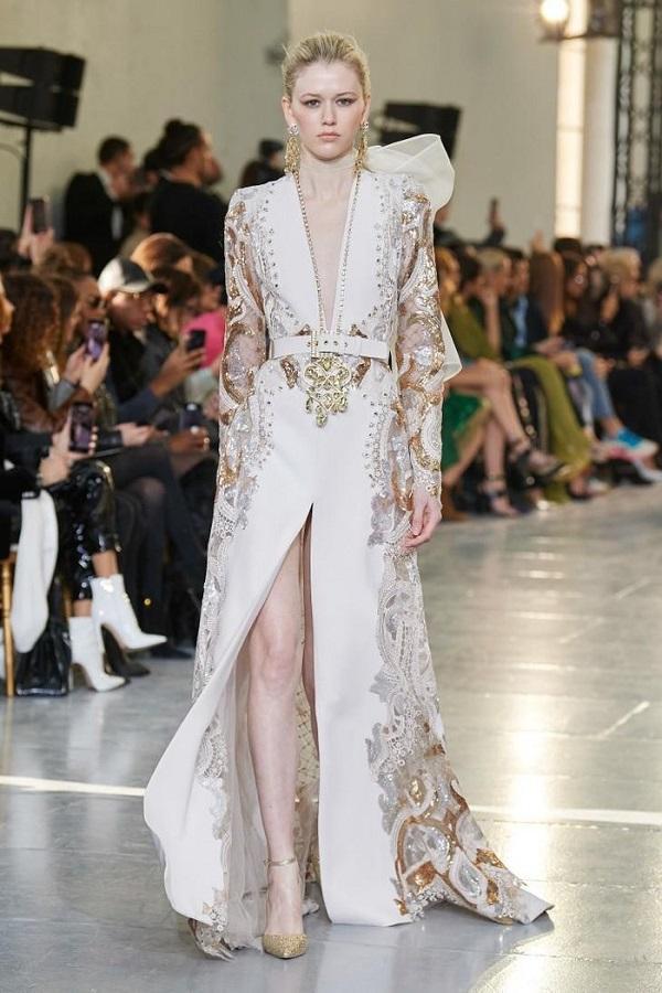 Ren, voan, lụa, kim sa và hàng loạt các chất liệu tạo nên váy cưới đều được NTK Li-băng lựa chọn từ những loại cao cấp nhất thế giới