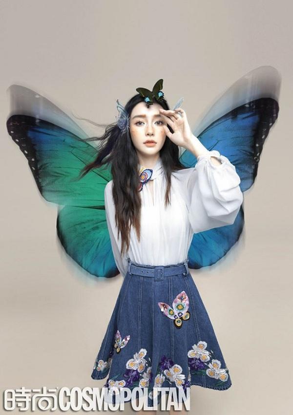 Concept bướm và hoa trong loat ảnh chụp hình photoshoot của Angelababy