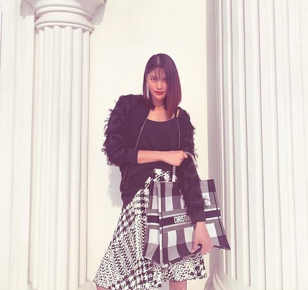 Ngoài Chanel, Lan Khuê cũng rất chuộng dáng túi Lan Khuê Dior book tote với chất liệu Canvas thuộc BST Xuân Hè 2018 của thương hiệu Pháp. Giá của chiếc túi không hề rẻ rơi vào dao động từ 2.650 USD đến 3.700 USD. ( tầm 60 triệu đến hơn 80 triệu đồng)