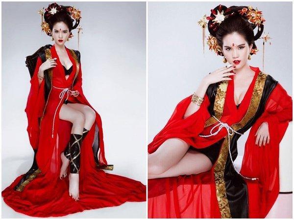 Sở hữu làn da trắng sứ cùng gương mặt xinh đẹp, không khó để Ngọc Trinh vào vai Võ Tắc Thiên xinh đẹp.