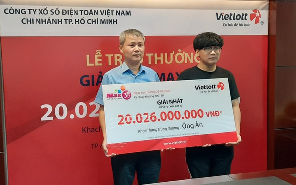 Đây cũng là giải thưởng cao nhất kể từ khi sản phẩm Max 3D+ của Vietlott ra đời từ tháng 4 năm ngoái