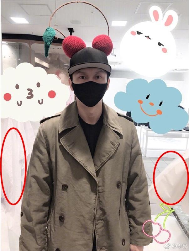 """Fan của cặp đôi Lý Thần - Phạm Băng Băng được một phen """"mừng rơn"""" vì nhờ bức ảnh này của nam diễn viên mà bắt quả tang cặp đôi đang đi thử áo cưới."""