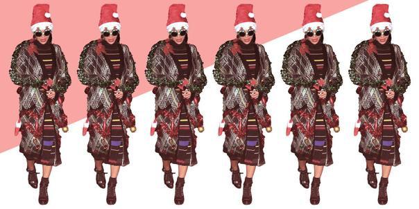 """Mới đây, Beyoncé đã khiến người hâm mộ không khỏi ngạc nhiên khi """"tậu"""" cho mình 1 chiếc áo khoác đậm chất Giáng sinh"""