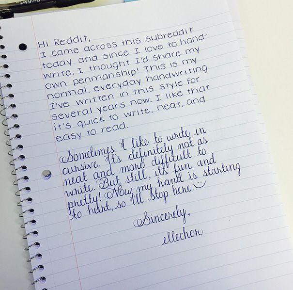 Không thể tin được đây là chữ viết tay!