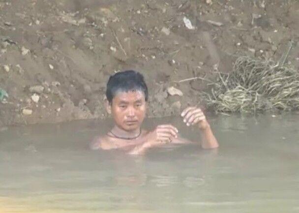 Anh Anna, 30 tuổi, người bị nhầm là xác chết nổi trên hồ nước.
