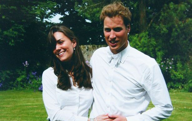 Hoàng tử William và Công nương Kate khi còn học đại học. Ảnh: The Middleton Family