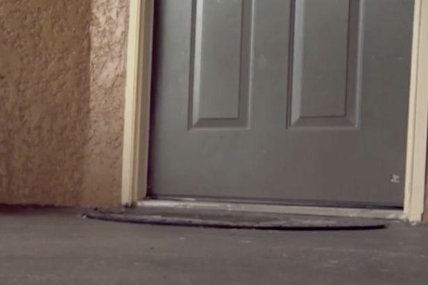 Đứa bẻ bị bỏ rơi trước cửa nhà cô Althea Brown. (Ảnh: WESH)