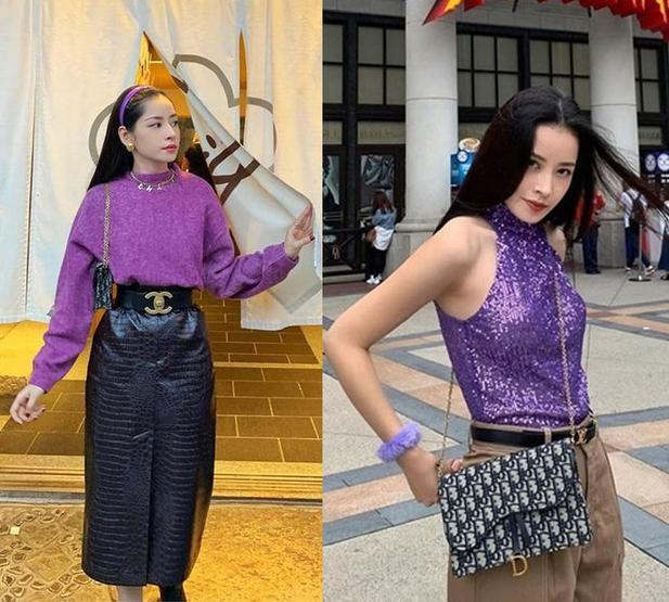 Sao Việt xóa định kiến đồ tím sến sẩm: Hương Giang, Ninh Dương Lan Ngọc đỉnh hết nấc! ảnh 12