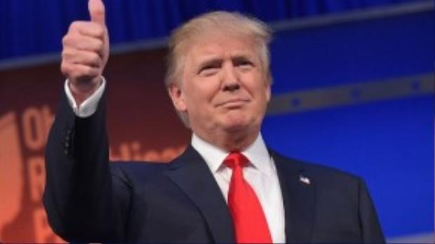 Tỷ phú Donald Trump, ứng viên tổng thống Mỹ của đảng Cộng hòa (vị trí số 3)