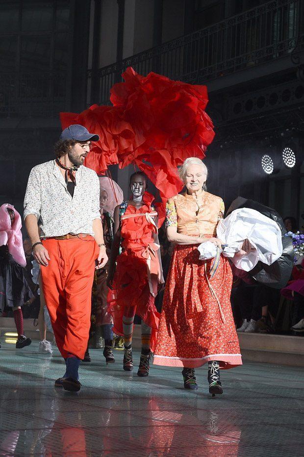 NTK Vivienne Westwood và chồng tại buổi diễn.
