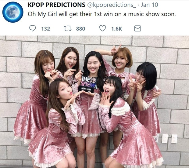 Khi đưa ra dự đoán Oh My Girl sẽ có chiến thắng đầu tiên trên show âm nhạc, nhiều người đã không tin cho đến khi nhóm đạt được chiếc cúp trên The Show với ca khúc Secret Garden, có thể đến chính các cô nàng cũng không thể ngờ được sự việc này.