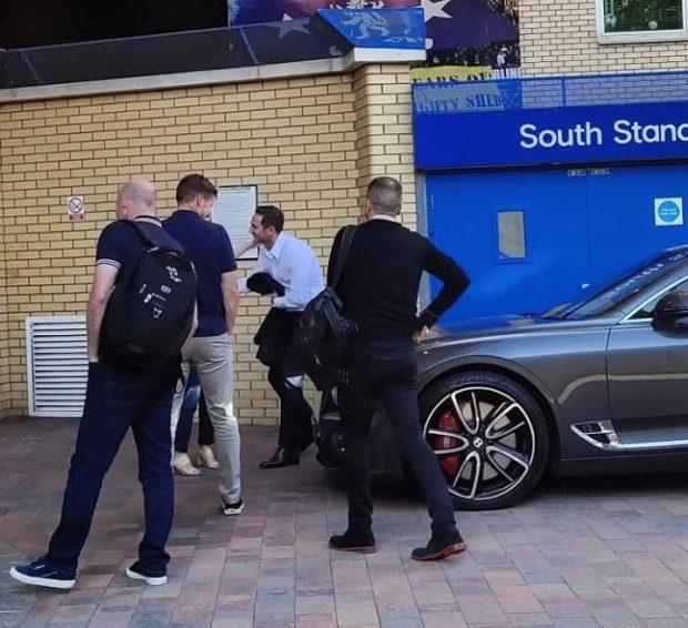 Lampard đã có mặt tại sân Stamford Bridge.