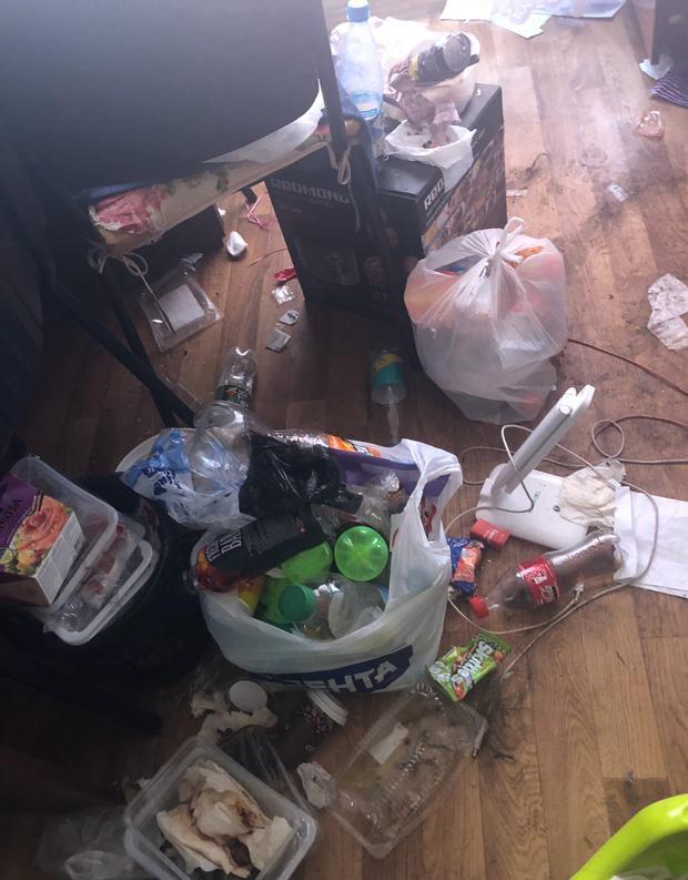 Phòng trọ biến thành bãi rác.