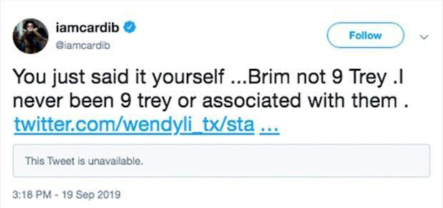 Vội vàng lên Twitter thanh minh, Cardi B không nhận ra mình đang tự tố cáo chính mình.