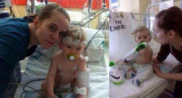 Ronaldo giúp đỡ cậu bé bị bệnh hiểm nghèo.