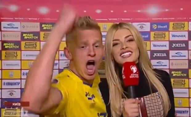 Zinchenko từng tỏ tình với Vlada Sedan ngay trên sóng truyền hình.