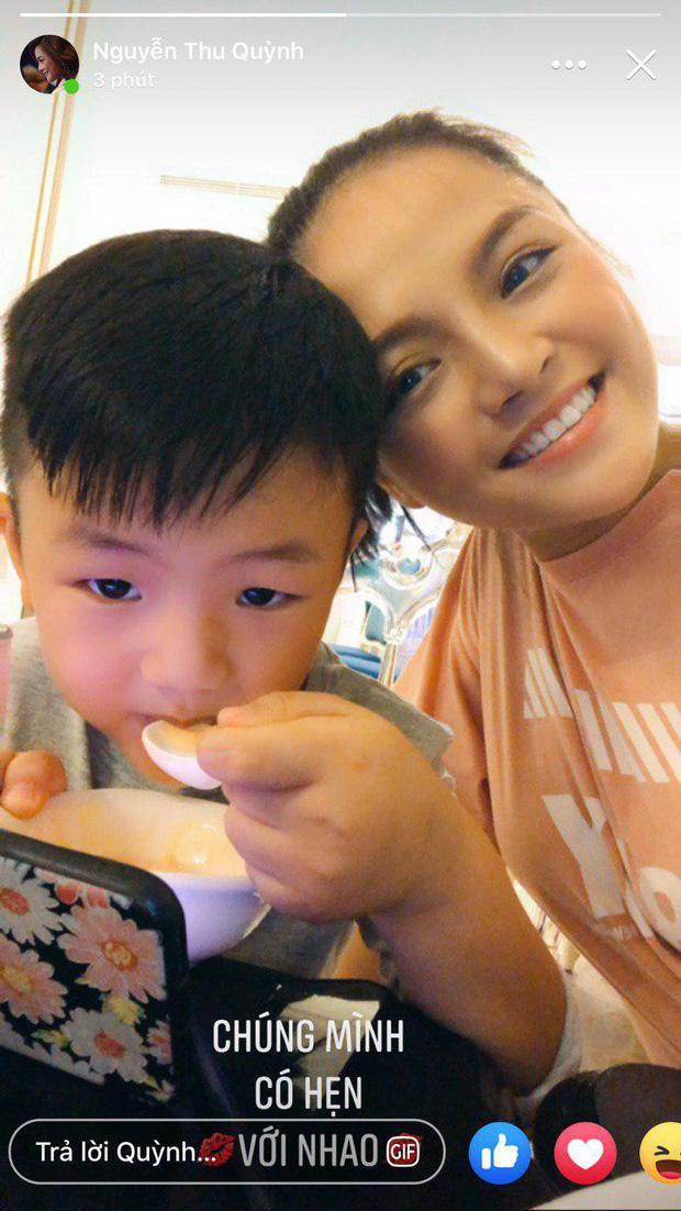 Loạt biểu cảm đáng yêu hết phần người khác của con trai Thu Quỳnh khi bên mẹ vào dịp cuối tuần ảnh 1