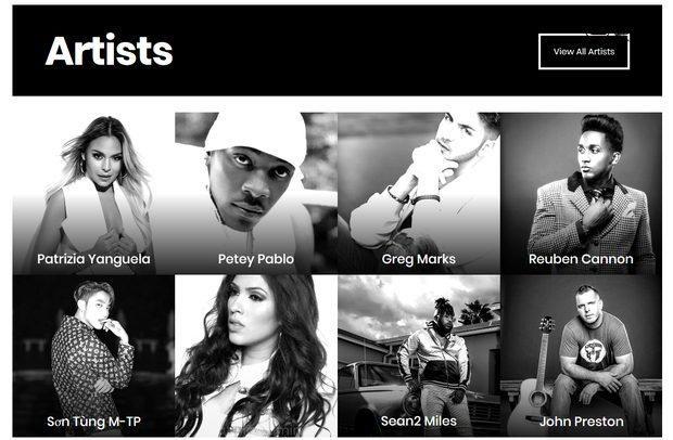 Sơn Tùng M-TP xuất hiện bên cạnh những nghệ sĩ của hãng thu âm này.