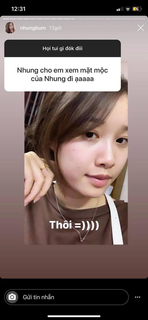 Trang Nhung tự tin khoe ảnh mặt mộc khi fan yêu cầu