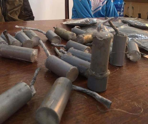 Số lượng pháo được thu giữ. Ảnh: báo Người Lao Động