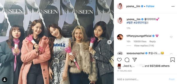 Các thành viên SNSD đã đến tham dự concert của Taeyeon