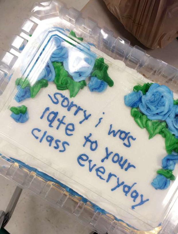 Dòng chữ tri ân cũng như xin lỗi người thầy đến từ cô bạn