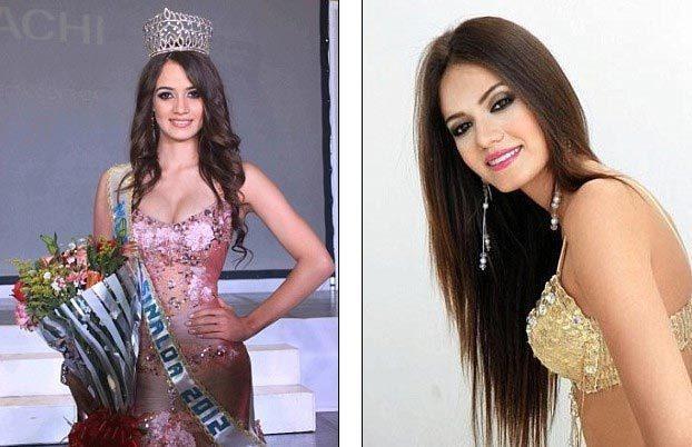Flores giành vương miện Hoa hậu bang Sinaloa 2012. Ảnh: Reuters