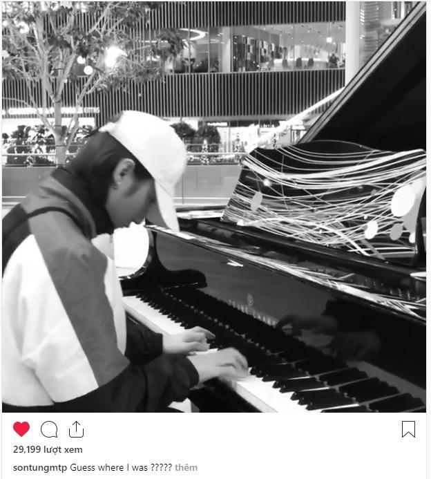 Dòng trạng thái và đoạn clip được Sơn Tùng M-TP chia sẻ trên trang Instagram cá nhân.