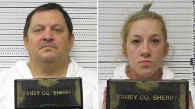 Hai kẻ tình nghi: Aubrey Trail, 51 tuổi (trái) và Bailey Boswell, 23 tuổi (phải).