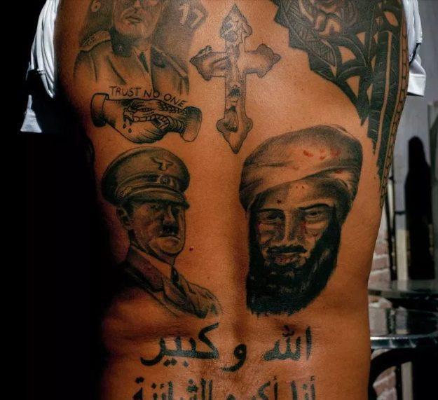 Những hình xăm là phổ biến tại thành phố này, đặc biệt là hình ảnh các tên tội phạm nhưAdolf Hitler và Osama bin Laden