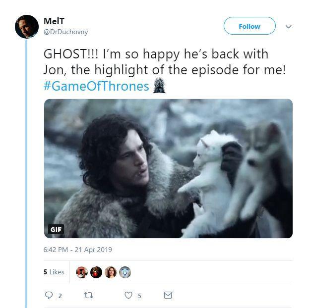 Fan Game of Thrones vỗ tay kịch liệt trước sự trở lại của Bóng Ma trong tập 2 Trò chơi vương quyền mùa 8 ảnh 9