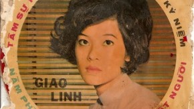 Hình ảnh nữ ca sĩ Giao Linh trên bìa đĩa phát hành trước năm 1975.