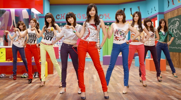 Nhóm SNSD trong concept Gee.